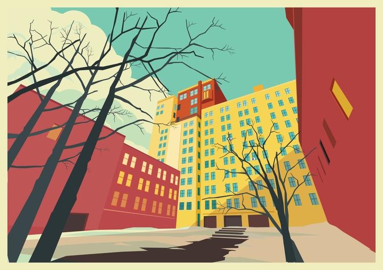 Vivid color building - vivid, architect - ozant291 | ello