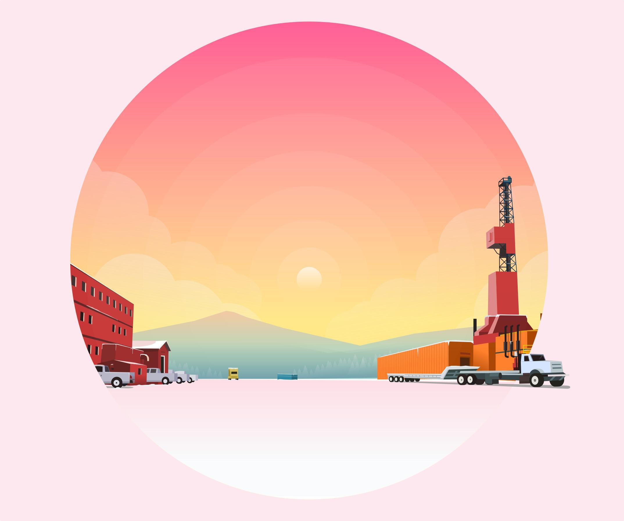 pinky winter - vectorgraphics, landscape - ozant291 | ello