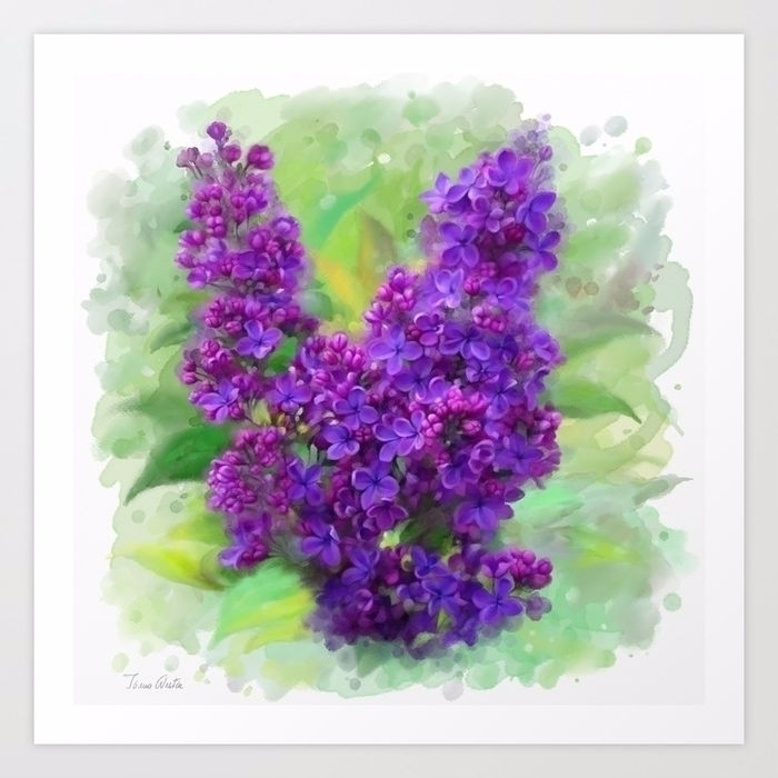Watercolor Lilac, hand painted  - ivaw | ello