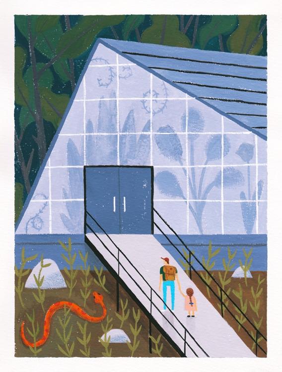 Exploring - illustration, greenhouse - alexander_mostov | ello