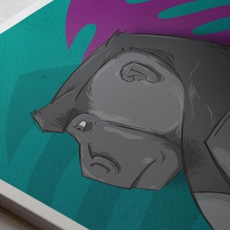 Silverback Profile Poster print - riseofthemonkey | ello