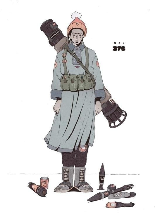 Day 273/365: Boombox Bazooka - illustration - 1sles | ello