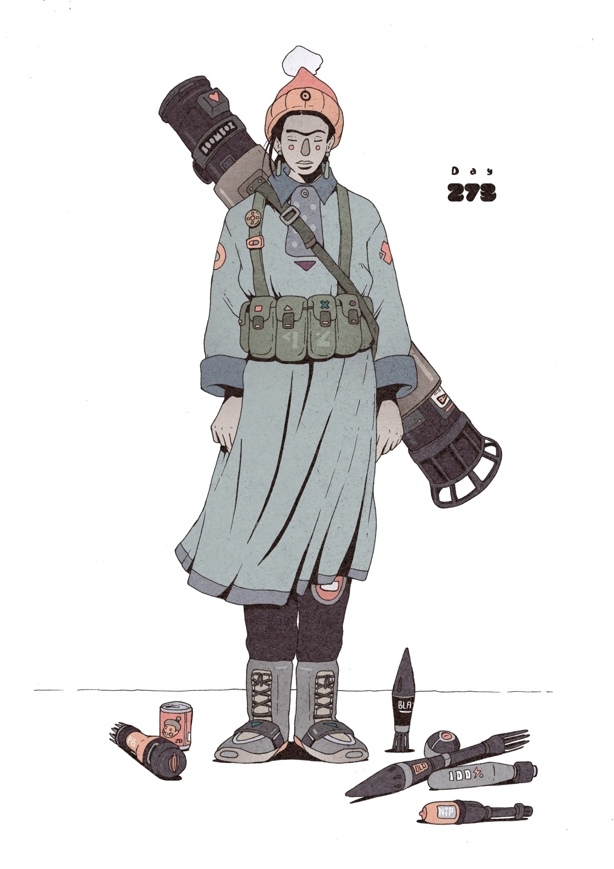 Day 273/365: Boombox Bazooka - illustration - 1sles | ello