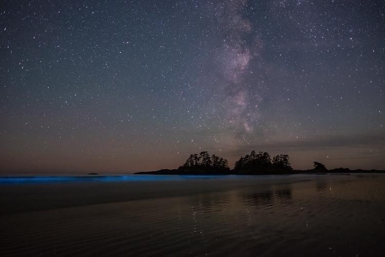 night, Milky exploding sky wave - w3bby | ello