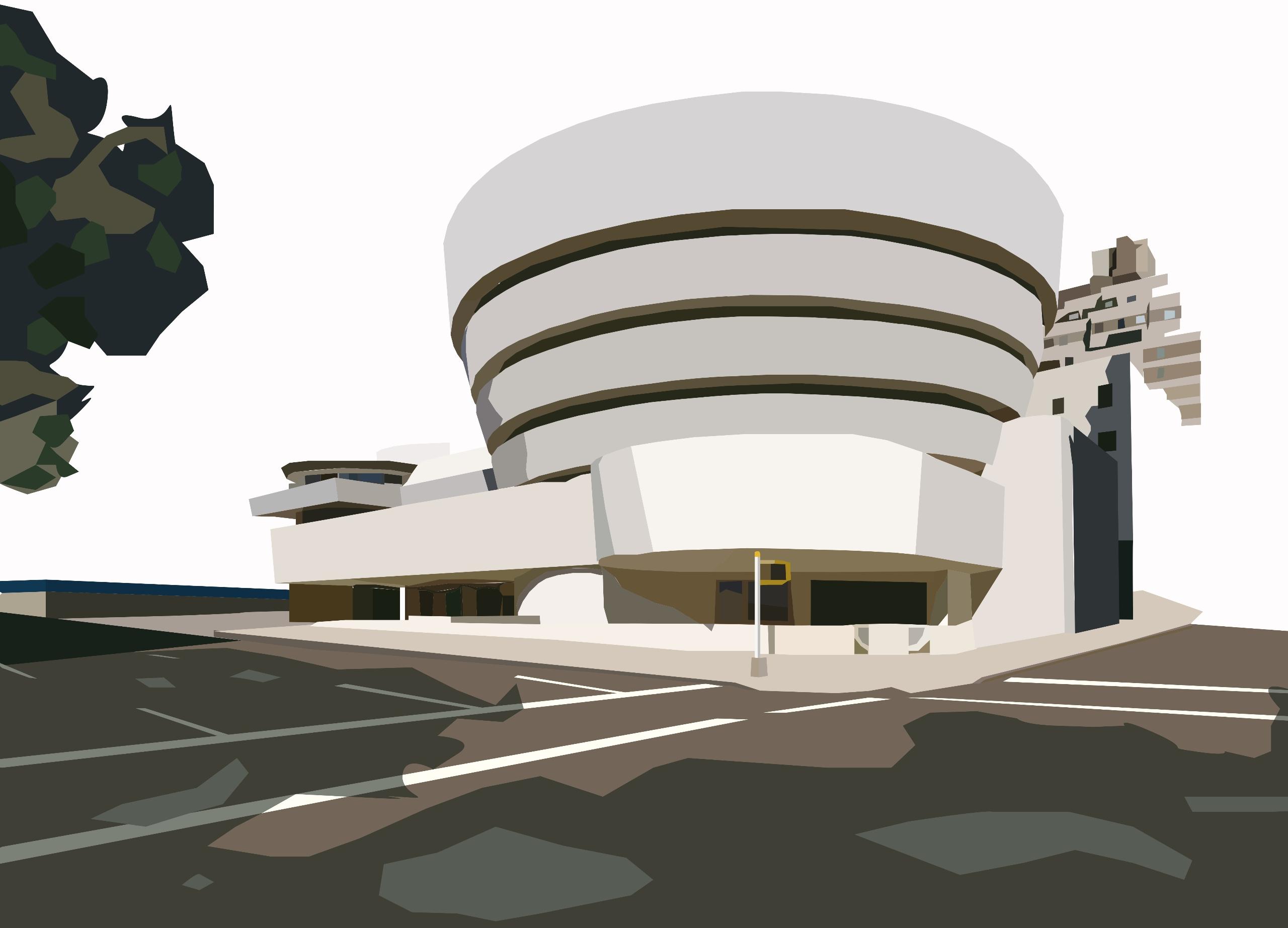 Solomon Guggenheim Museum - illustration - sophieillustration   ello