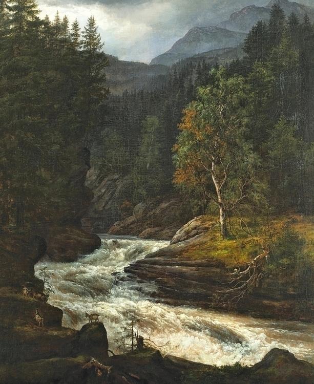 Johan Christian Dahl, Waterfall - modernism_is_crap | ello