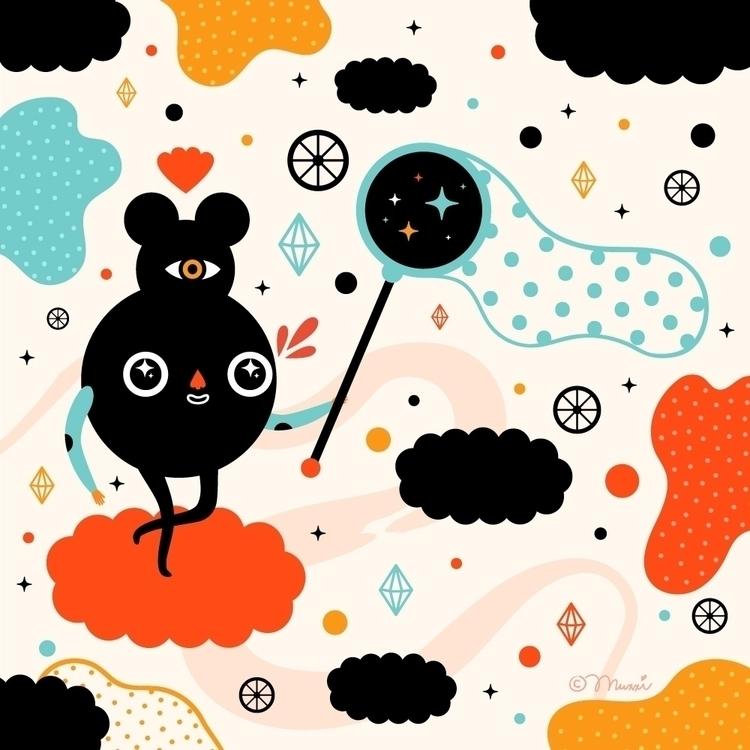 Dream Catcher - illustration, happyfriday - muxxi   ello