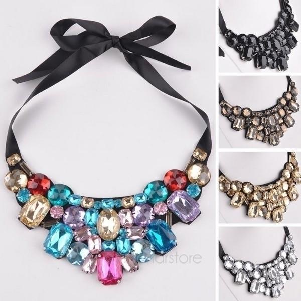Crystal choker necklace wedding - dfordress | ello