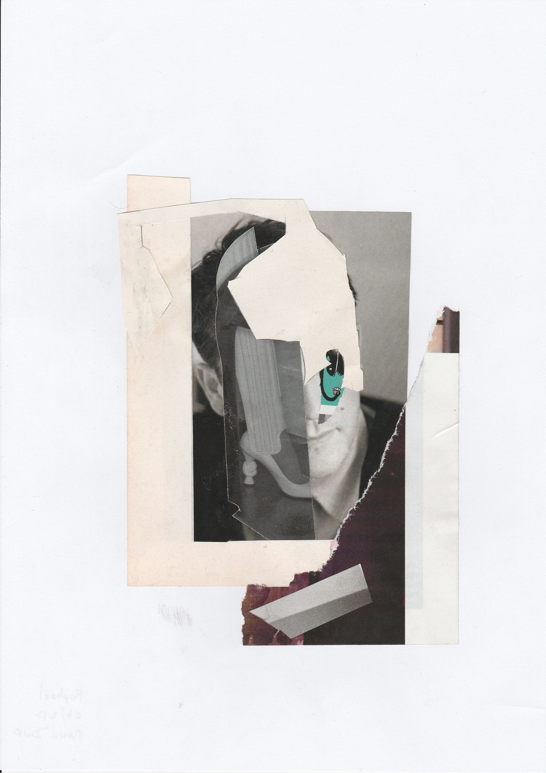 Raphaël - Handmade collage - portrait - manuduf | ello