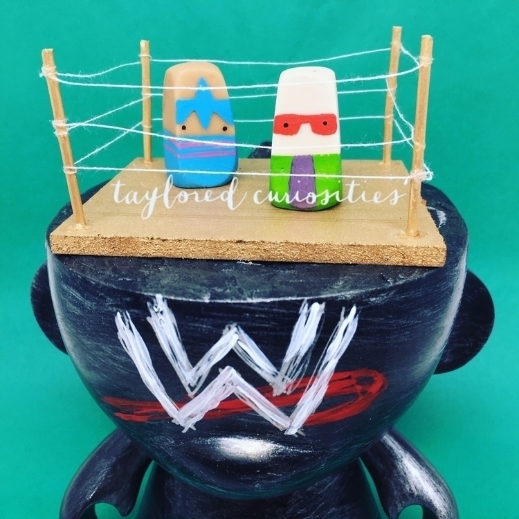 Finished wrestling themed custo - tayloredcuriosities | ello