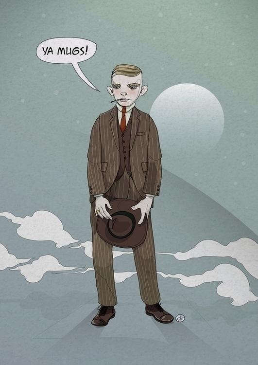 illustration, artwork, gangster - shugmonkey | ello