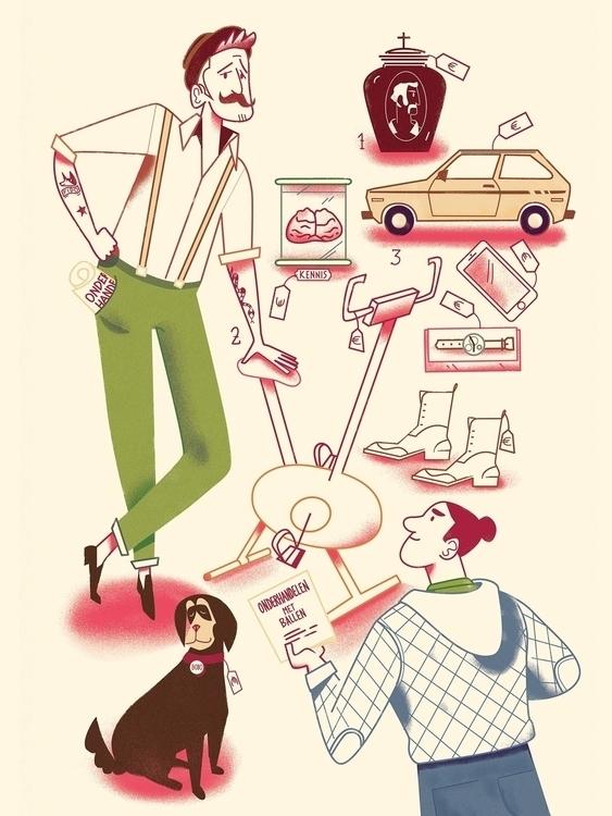 Illustration Dutch Health mag,  - cesdavolio | ello