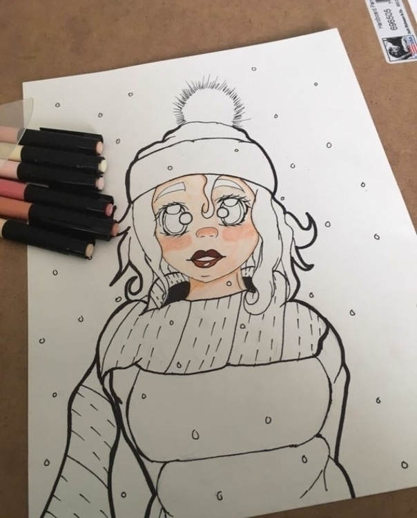 Winter Alcohol based-marker dra - fallingsoulsart | ello