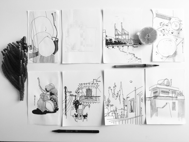 Cyprus Sketching Katja Buzova  - yd_studio | ello