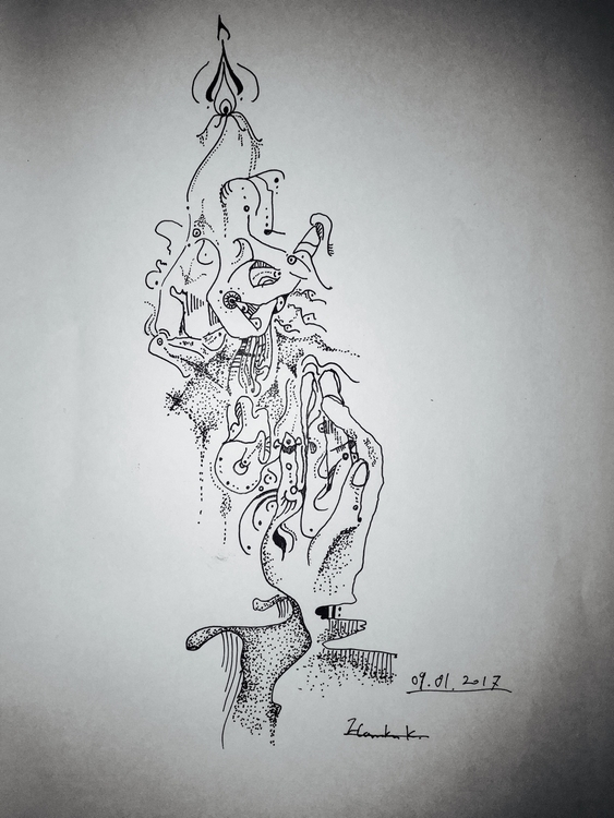 drawing, abstract, hand, pen - themartiansgirlfriend | ello