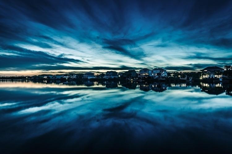 Waterway Sunset - wadesword | ello