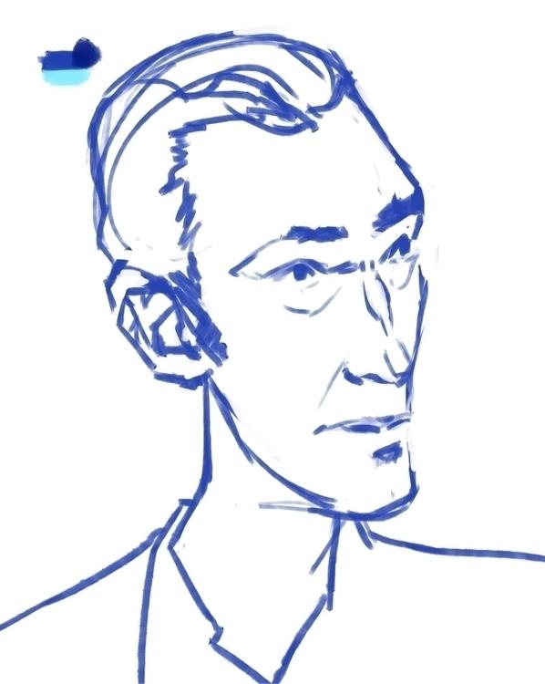 Vin Cassel - sketch, portrait, men - evandileo   ello