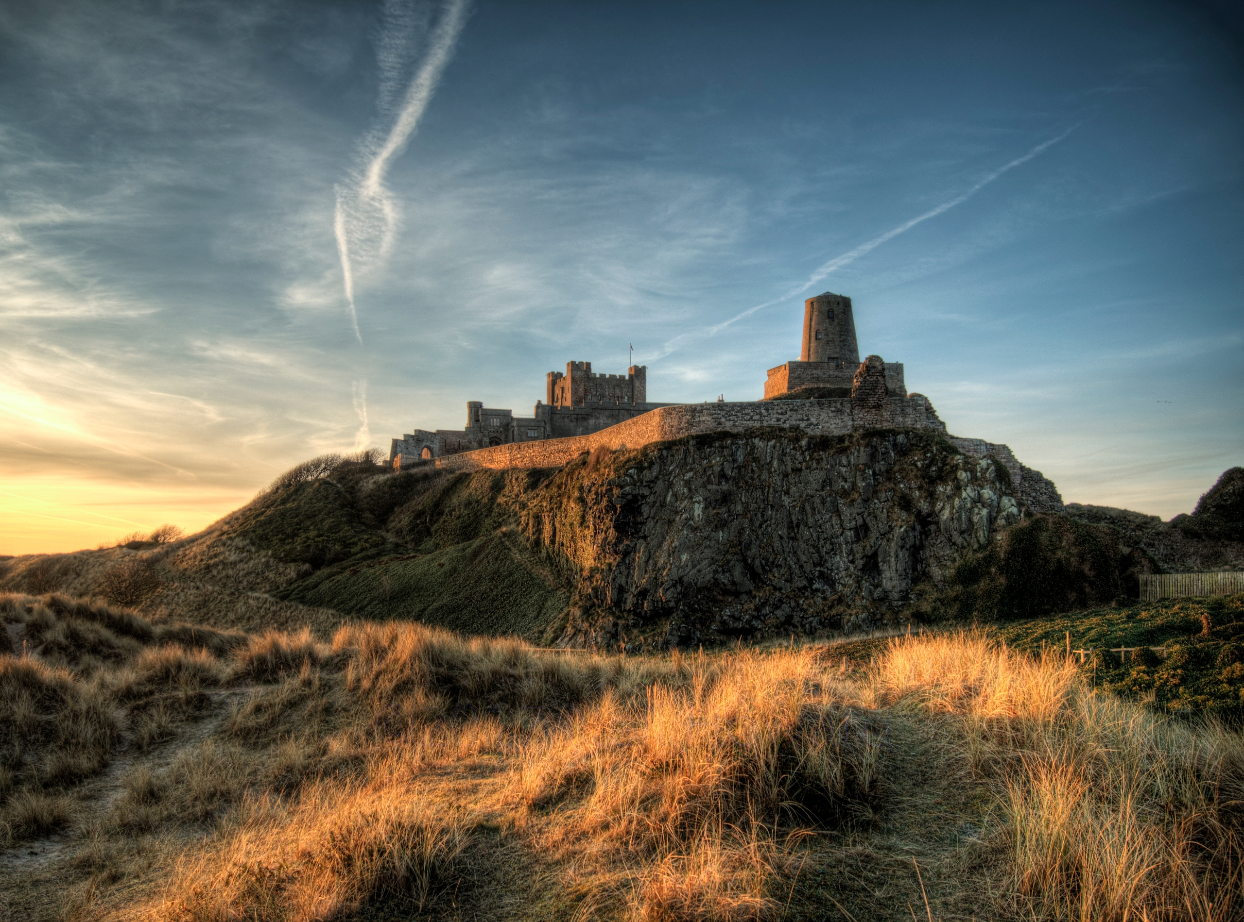 Bamburgh Castle Dawn - massive  - neilhoward | ello