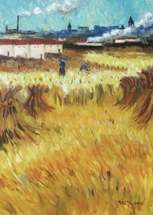 wheatfield :heart:️ poeticoilpa - poetic_oilpainting | ello
