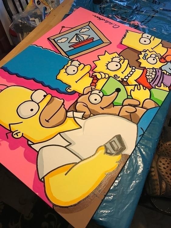 Simpsons Painting large canvas - booda18 | ello