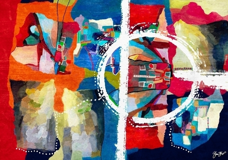 Red Highway - mixedmedia, abstract - ginastartup | ello
