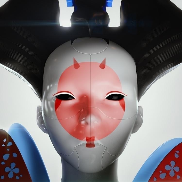 Ghost Shell - Geisha Robot. CGI - schalauka | ello