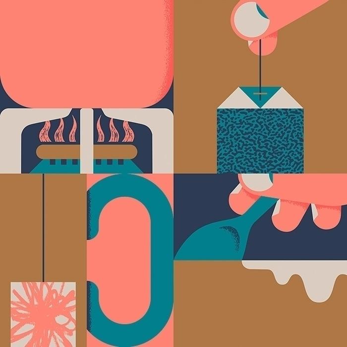 Teatime - illustration, design, minimal - alconic   ello