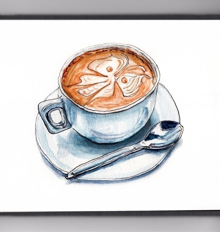 COLD SPRING DAY - watecolor, watercolour - doodlewash | ello