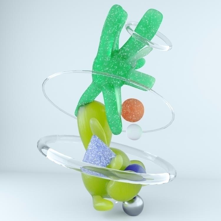Gummyyyyy - 3D, illustration, pastel - chromaticarcade | ello