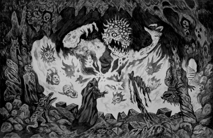 Brimstone Beast - Ink drawing p - aeronalfrey | ello