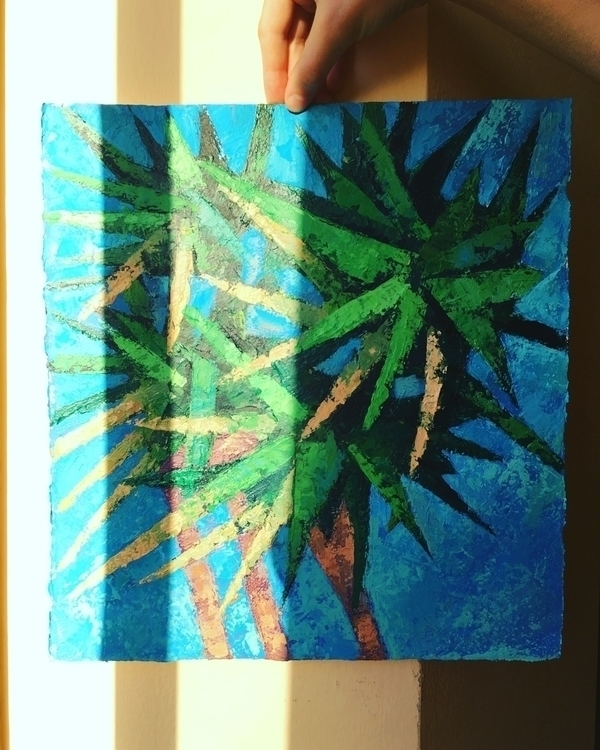 Sunny Palms - art, sketch, sketching - yd_studio | ello