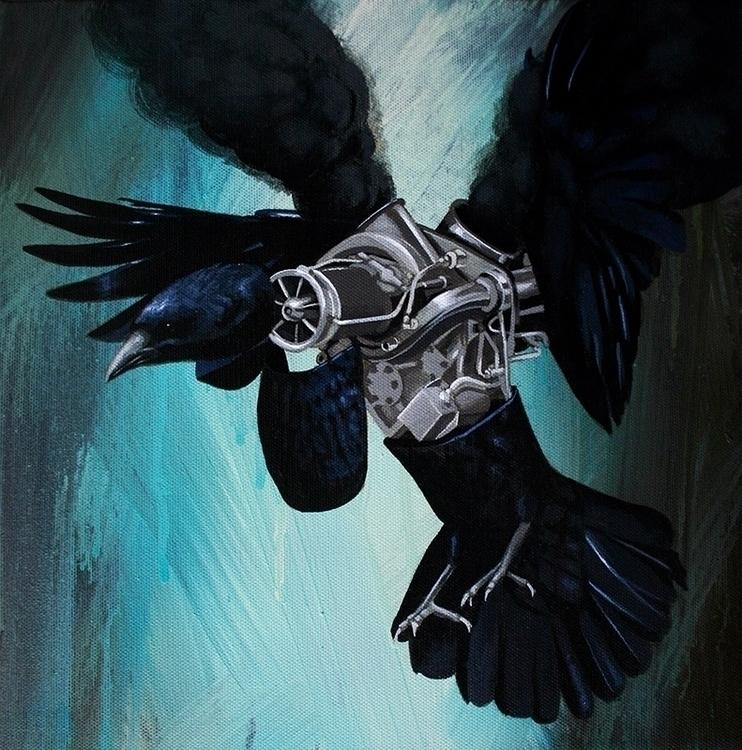 moody blackbird painting sale r - bowenstuff | ello