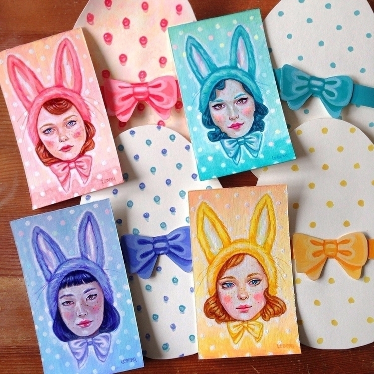 4 tiny Easter bunny ladies! 3 5 - edithlebeau | ello