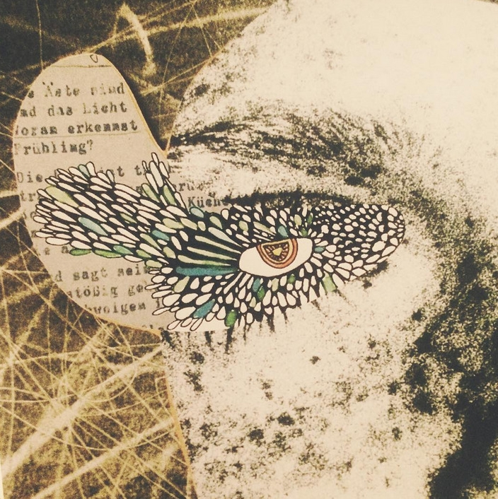 Collage Birdgirl POETIC COPPER  - fanieroux | ello