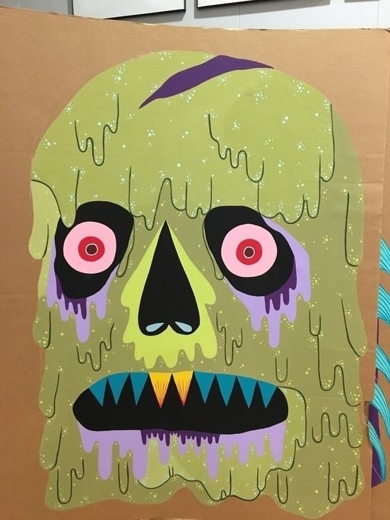Giant cardboard monster - angelafox | ello
