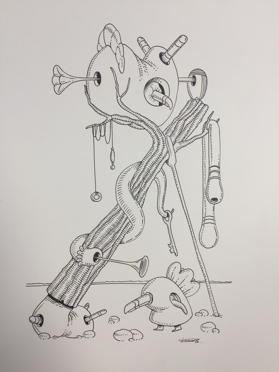 Paradis - illustration, art, surrealism - jimmy-draws | ello