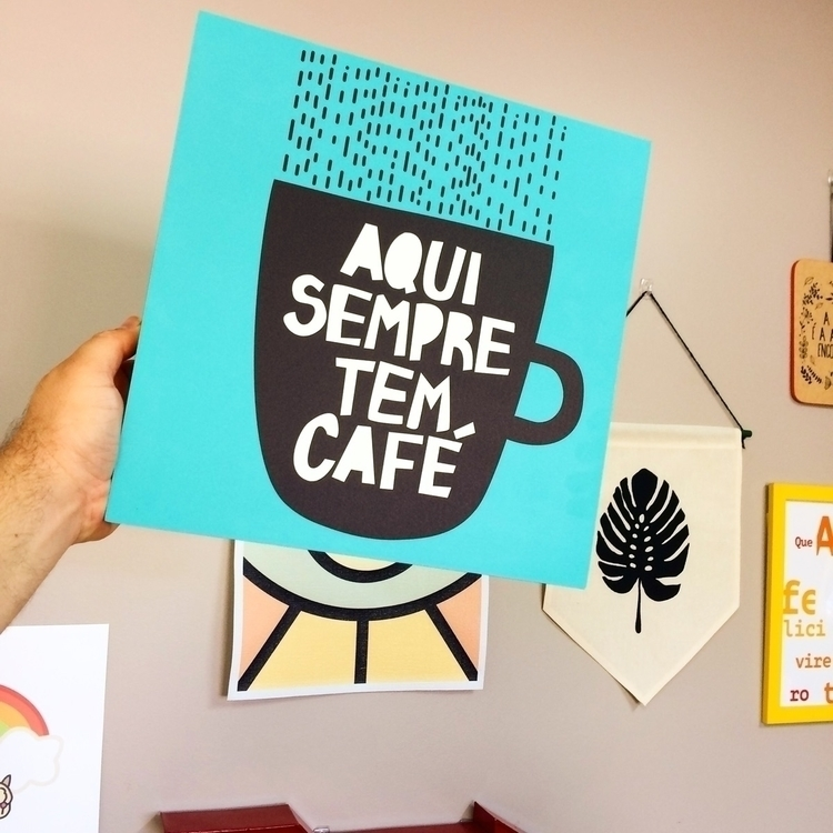 Coffee! :coffee:️ Quadro Flat  - nacasadajoana | ello