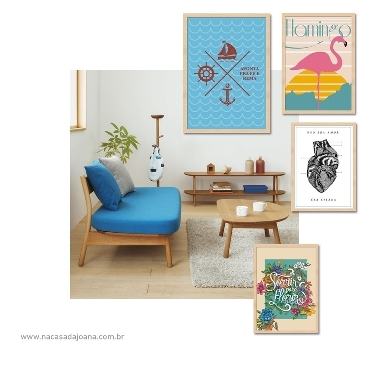 Wood + Blue - interiordesign - nacasadajoana | ello
