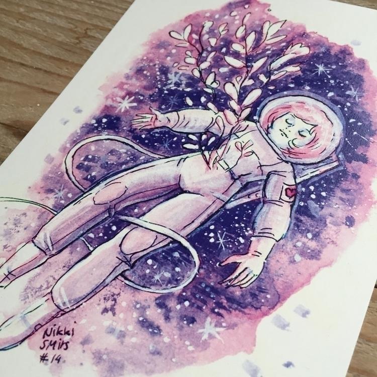 Inktober postcards - inktober, galaxy - nikkismitsillustration | ello