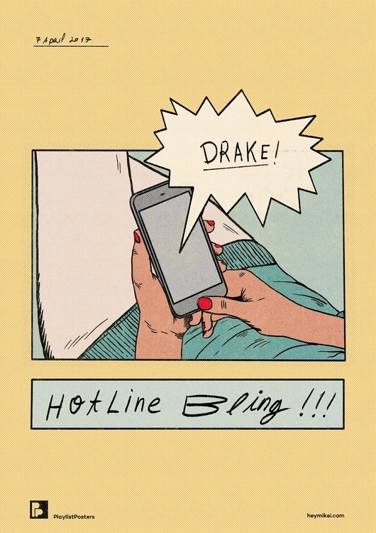 Playlist-posters // Drake - Hot - heymikel | ello