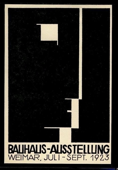 1923 - Poster, Bauhaus, Exhibition - bauhaus-movement | ello