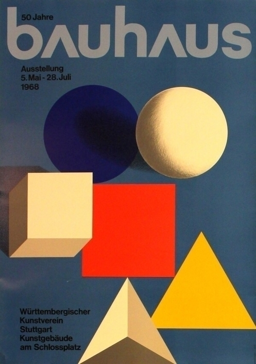 50 Years 5 28 July 1968 - Poster - bauhaus-movement | ello