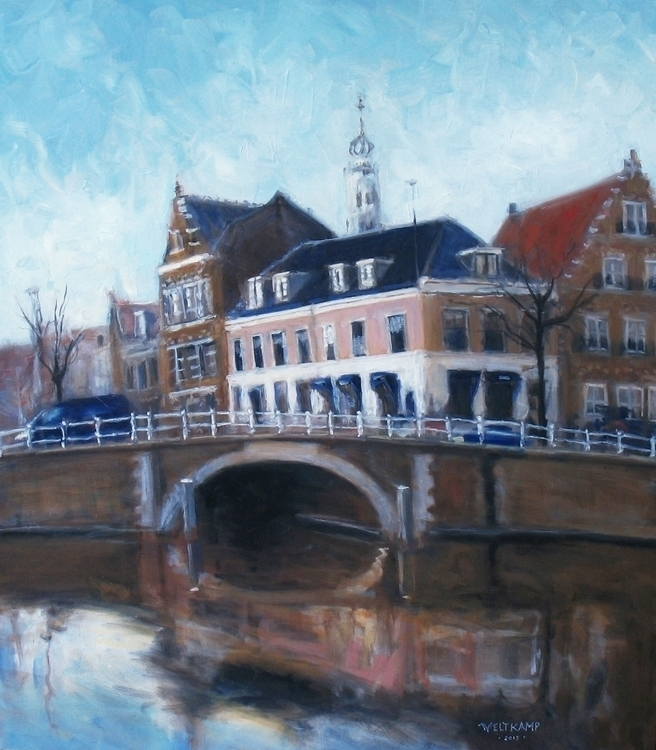 bridge Haarlem :heart:️ poetico - poetic_oilpainting | ello
