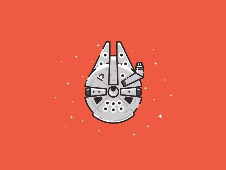 Millennium Falcon Star Wars ill - kirp | ello