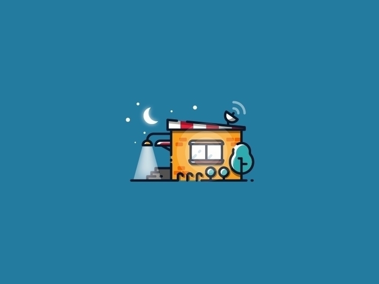 Night house - vector illustrati - kirp | ello