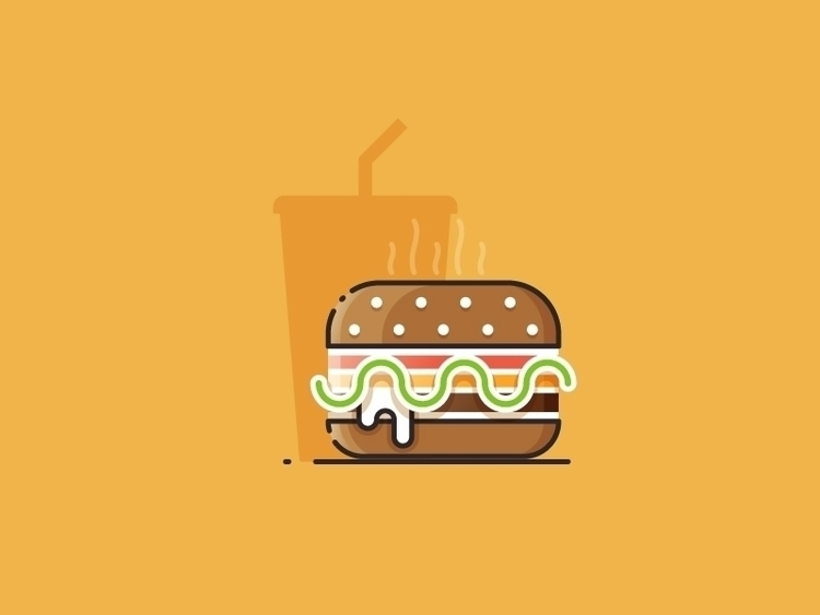 Hamburger - vector illustration - kirp | ello