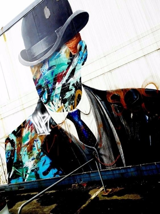 bowler hat - graffiti Grönsakst - thesupercargo | ello