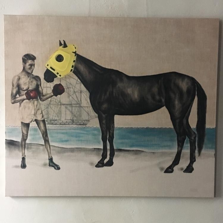 2014 Oil canvas - horse, oilpainting - ray3000 | ello