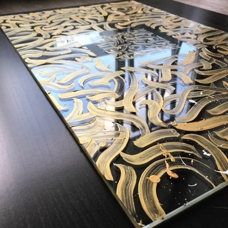 Calligraphy glass plate differe - darksnooopy | ello