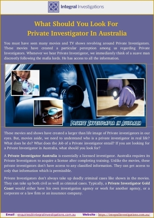 Meet Private Investigator Austr - integralinvestigations | ello